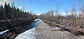 Mission Creek pedestrian overpass ice melting March 17 2011 Panorama2.jpg