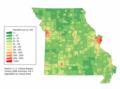 Missouri population map (2000).png