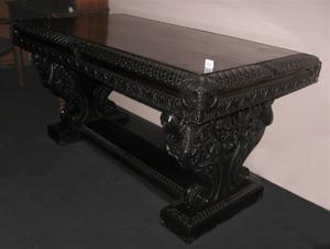 Willard M. Mitchell - Table built by Willard M. Mitchell ca. 1920. Photographed at the New Brunswick Museum.