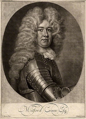 Mitford Crowe - Mitford Crowe, 1703 engraving by John Smith after Thomas Murray