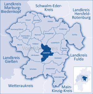 Lautertal - Image: Mittelhessen Vogelsberg Laut