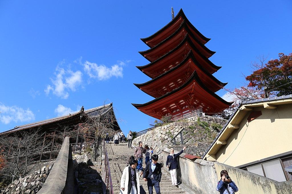 Miyajima, pagoda a cinque ordini gojunoto