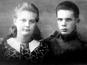 Stjepan Filipović - Young Stjepan Filipović (right)