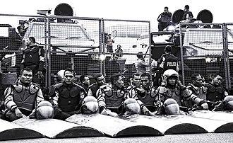Mobile Brigade Corps - Brimob riot control personnel