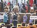 Mock fight after Aizu parade.JPG