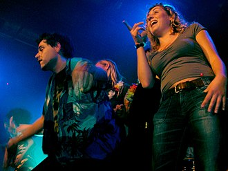 Mocky - Mocky grooving with fans at a performance on May 20, 2006 at the Stadtgarten concert hall in Cologne, Germany.