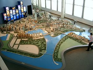 Central Region, Singapore - An ever-changing model at the URA Gallery.