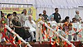 Mohd. Hamid Ansari, the Prime Minister, Dr. Manmohan Singh, the Union Minister of Human Resource Development, Shri Kapil Sibal, the Chief Minister of Delhi, Smt. Sheila Dikshit and the Chairperson, UPA.jpg