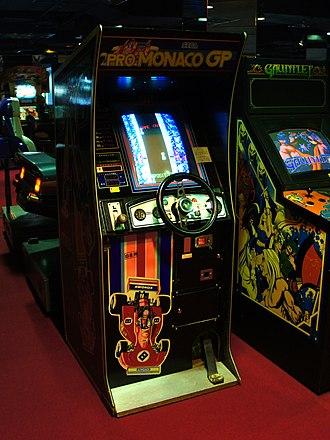 Monaco GP (video game) - A Pro Monaco GP upright cabinet