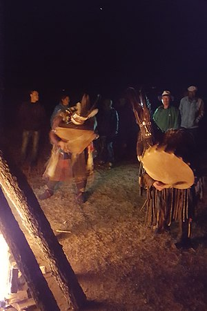 """Richard Noll - Mongol shamans in a """"fire ritual"""" to celebrate the summer solstice (Ulaan Tergel) on the night of 21 June 2017"""