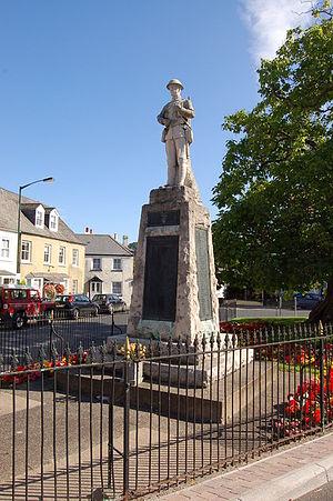 War memorials in Monmouth - Image: Monmouth War Memorial geograph.org.uk 1498118