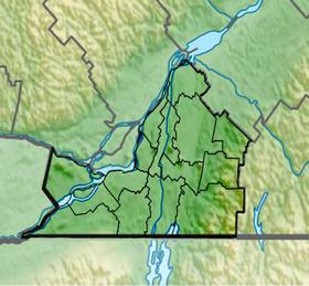 Voir sur la carte administrative de Montérégie