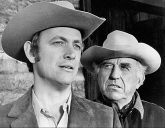 Ed Begley - Begley (right) with Monte Markham in 1969.