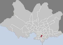 Location of Tres Cruces in Montevideo