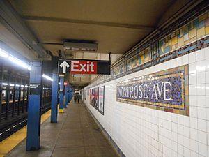 Montrose Avenue (BMT Canarsie Line) - Platform
