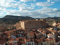Skyline of Mora de Rubielos, Spain