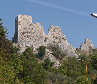 Morcone - The remains of the castle