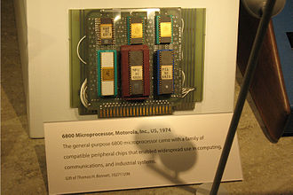 MOS Technology 6502 - Motorola 6800 demonstration board built by Chuck Peddle and John Buchanan in 1974.
