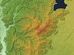 Mount Kenashi (Shizuoka Pref. & Yamanashi Pref.) Relief Map, SRTM-1.jpg