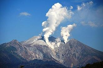 2014 Mount Ontake eruption - Mount Ontake seen from Kurakake Pass on October 11, 2014.