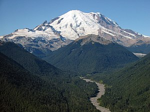 Mount Rainier - Mount Rainier as viewed from the northeast.
