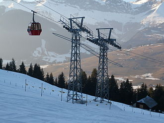 GMD Müller - A gondola lift constructed by GMD Müller in 1984, in Gstaad, Switzerland