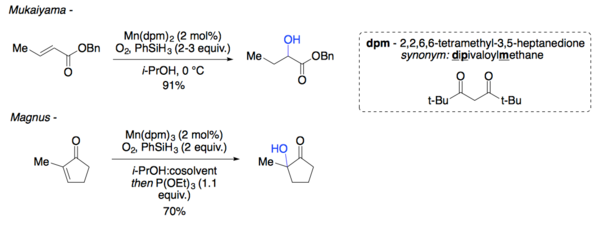 Mukaiyama and magnus alpha hydroxylation