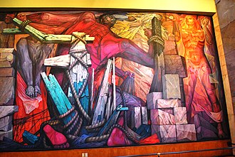 Mexican muralism - Mural by Jorge González Camarena at the Palacio de Bellas Artes