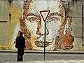 Mural num muro de tijolo em Aveiro (8482304417).jpg