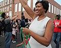Muriel Bowser waving to crowd.jpg