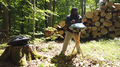 Musician playing handpan in the forest.png