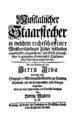 Musikalischer Staarstecher 1739 Titel.png