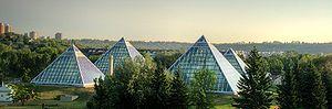 Cloverdale, Edmonton - The Muttart Conservatory pyramids