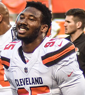 National Football League - Browns defensive end Myles Garrett, the first overall draft pick in the 2017 NFL Draft