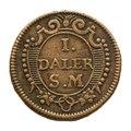 Nödmynt, daler, 1718 - Skoklosters slott - 109193.tif