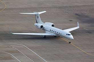 Gulfstream G550 - Gulfstream G550 taxiing