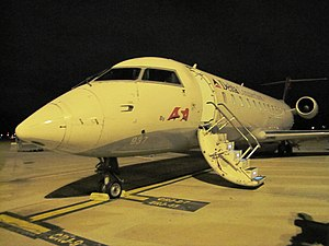 Atlantic Southeast Airlines - An ASA CRJ-200 at Memphis International Airport.
