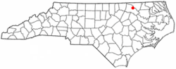 Location of Halifax, North Carolina