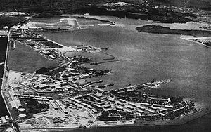 Manzanillo International Terminal - Aerial view of the U.S. Naval Station Coco Solo in 1941