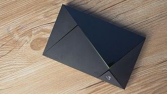 Nvidia Shield (set-top box) - Image: NVIDIA SHIELD TV 2017ver console