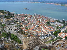 Nafplion view from Palamidi castle.JPG