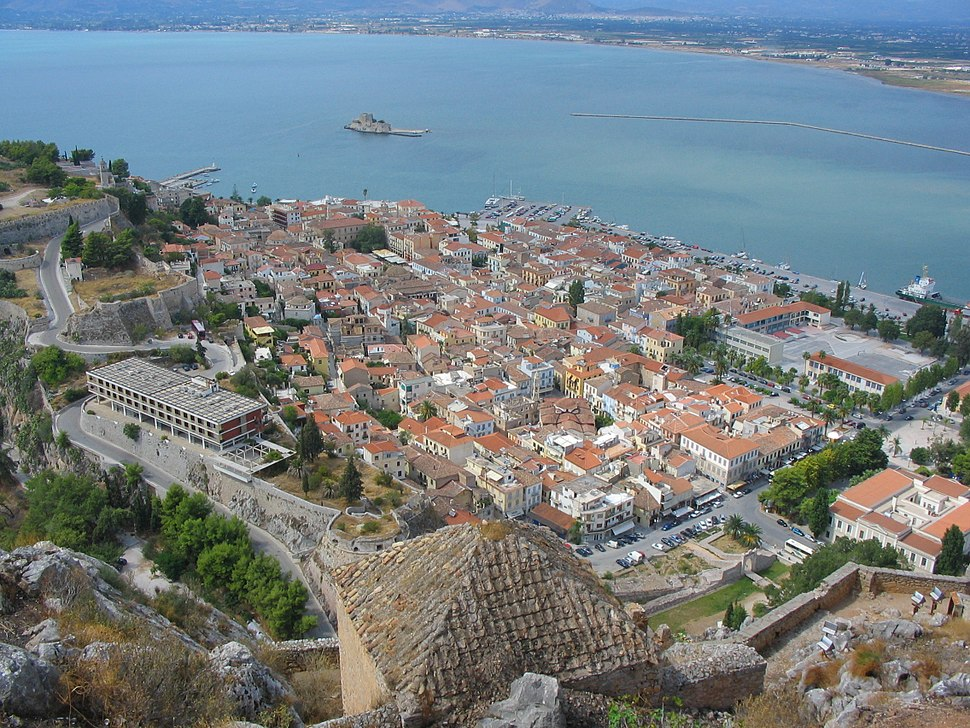 Nafplion view from Palamidi castle