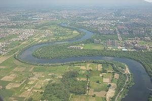 Najafgarh - Aerial View of Najafgarh Drain