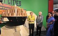 Narendra Modi and the German Chancellor, Ms. Angela Merkel at the Joint Inauguration of the India Pavilion and the Joint Walk-About Make in India, in Hannover (3).jpg