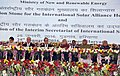 Narendra Modi and the President of France, Mr. Francois Hollande at the foundation stone laying ceremony of International Solar Alliance HQ, in Gurgaon. The Governor of Punjab and Haryana and Administrator, Union Territory.jpg