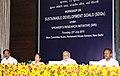 Narendra Modi at the Workshop on Sustainable Development Goals under Speaker's Research Initiative (SRI), at Parliament House, in New Delhi. The Speaker, Lok Sabha, Smt. Sumitra Mahajan, the Lok Sabha Deputy Speaker.jpg