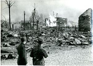 Battle of Narva (1944) - Narva after artillery and air raids, 1944