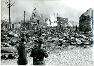 Battle of Narva (1944) - Narva after artillery and air raids, 1944