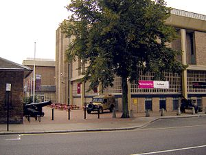 Royal Hospital Road - The main entrance of the National Army Museum from Royal Hospital Road.