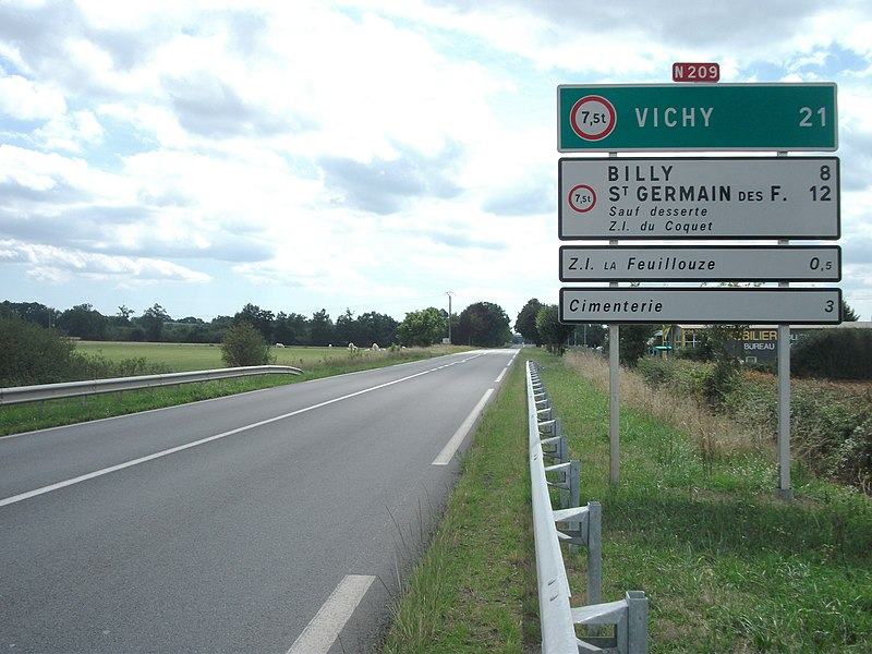 Route nationale 209 towards Vichy [8931]